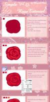 Simple Rose Tutorial by Maruuki