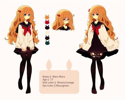 MaruMaru Doodle ref [updatet outfits] by Maruuki