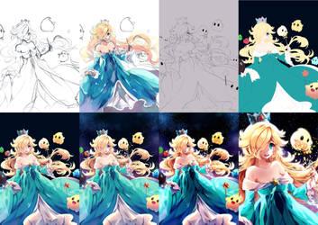 Rosalina and Luma progress[Step by Step] by Maruuki