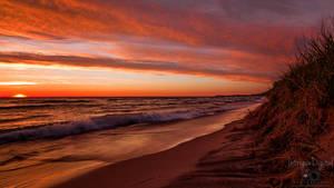 Arcadia MI Sunsets (Over Lake Michigan) by JeffreyDobbs