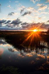 Sunrise in Arcadia MI - by JeffreyDobbs