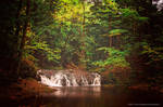 Early Autumn In The Porkies - Greenstone Falls by JeffreyDobbs