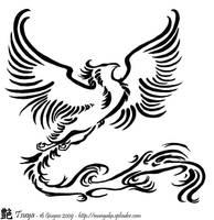 Phoenix Tattoo by tsuyachan