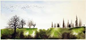 Spring dawn by InkingArt