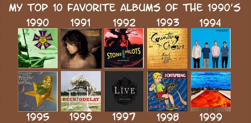 Favorite 90s Albums by YDKJGuy-Towers