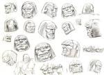 Darkseid head sketch by aliduzgun