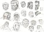 Red - Green Hulk head sketch by aliduzgun