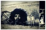 Jimi Hendrix Graffiti Stencil by byCavalera