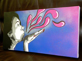 Untitled - Stencil over Canvas by byCavalera