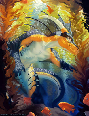 Kelp Forest by MoltenGoldArt