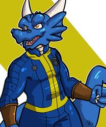 Vault suit Jevrath by The-BlueDragoon
