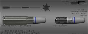 Interference Munition Concept 1 - Non Lethal by DeRezzurektion