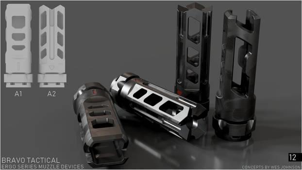 Bravo Tactical - Ergo Series A1/A2 Muzzle Devices by DeRezzurektion