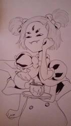 Undertale Inktober 8: Muffet by Bomberhead67