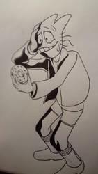 Undertale Inktober 9: Donut Guy by Bomberhead67