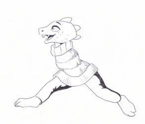 Undertale Inktober 15: Monster Kid by Bomberhead67