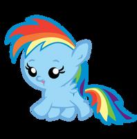Baby Rainbow Dash Running by jrk08004