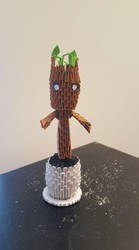 3D Origami Groot by CD3DArt