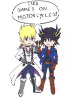 Card Games on Motorcycles by HidanPuppy