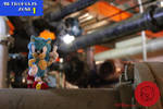 Sonic in Metropolis Zone- Pipe Cleaner Figure by PCWOverlord