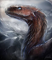 Dragon from the mountains by Trioza