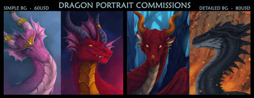Portrait Commissions [OPEN] by Trioza