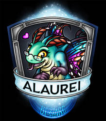 BlizzCon 2016 Blizzard Badge - Alaurei by Noxychu