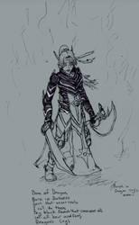 Morph in Dragon Cry's Mode wip steel armor by jyunogozen