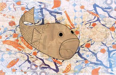 Carton fish by puoplazio