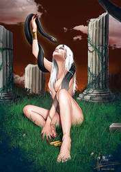 Lilith and de slave by Vampirneko