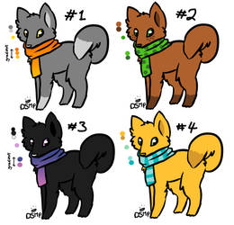 Doggo adopts #1 [4/4 OPEN] ~10 points each~ by Phoenix450