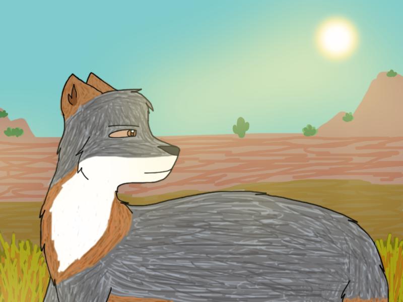 [Prize] Grey fox by Phoenix450