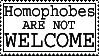 Homophobes are not welcome by ElianaStock