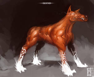 Hellhound by Marcodalidingo