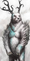 Bear god by Marcodalidingo