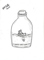 Inktober #18 Bottle by Gothie666