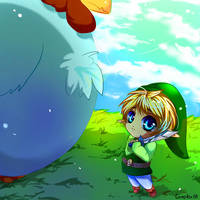 Why yes, that is a rather large chicken. Why? by complex88
