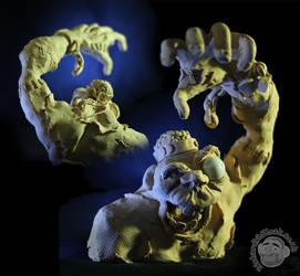 Frankenstein's Monster in Plasticine by Clayofmyclay