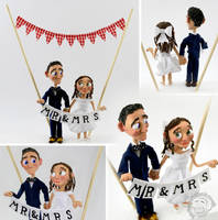 Wedding Cake Topper by Clayofmyclay