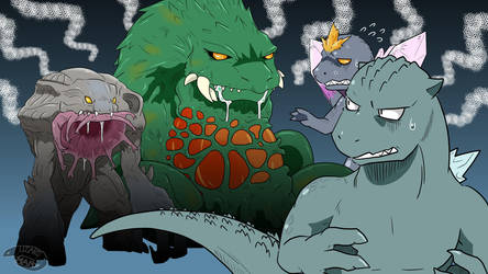 Godzilla looks delicious by nesise