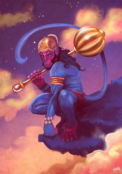 Lord Hanuman by thenota