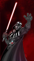 lord darth vader colour by thenota