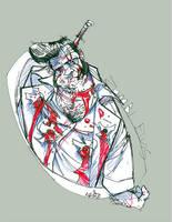 the elvis presley zombi by thenota
