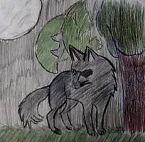 Night wolf by konakit2006