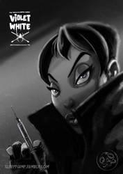 Violet White Noir by sleepygimp