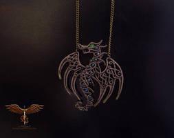 Dragon pendant by alina-loreley