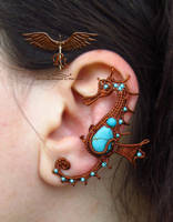 Seahorse ear cuff, new design by alina-loreley