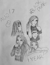 BLACKPINK 1st Anniversary - DA 17th Birthday by mewpearl