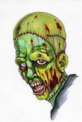 October 30: Franken-Zombie by scottkaiser