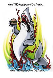 Burger Shark by scottkaiser